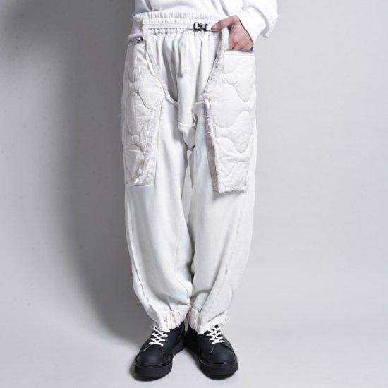 メンズファッションHAMCUS / PLEATED QUILTED LAYER BAGGY LOUNGE PANTS