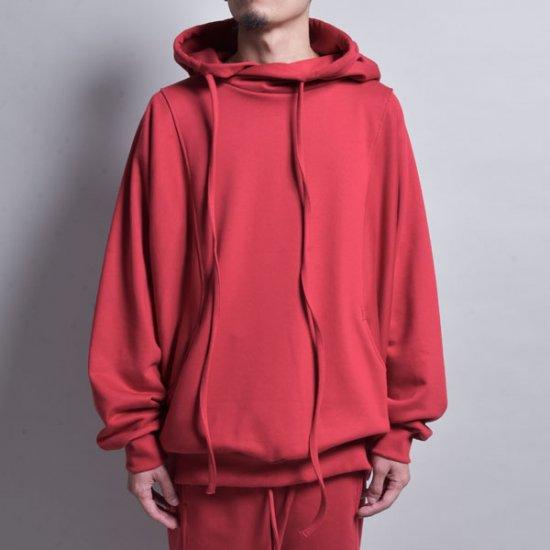 メンズファッションrin /4POCKET EASY HOODIE RED