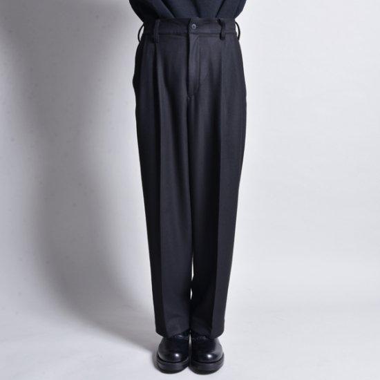 メンズファッションrin / Loose Tuck Slacks Pants BK