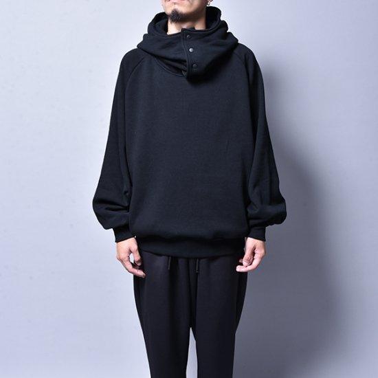 メンズファッションrin / Big Neck Hoodie Black