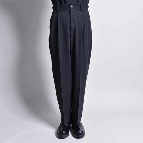 rin / Wide Tuck Slacks Pants MAD BK