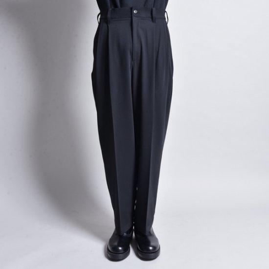 メンズファッションrin / Wide Tuck Slacks Pants MAD BK