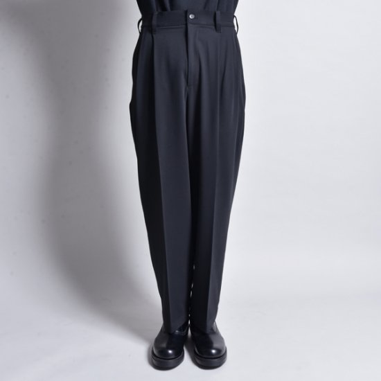 rin / Wide Tuck Slacks Pants MAD BK