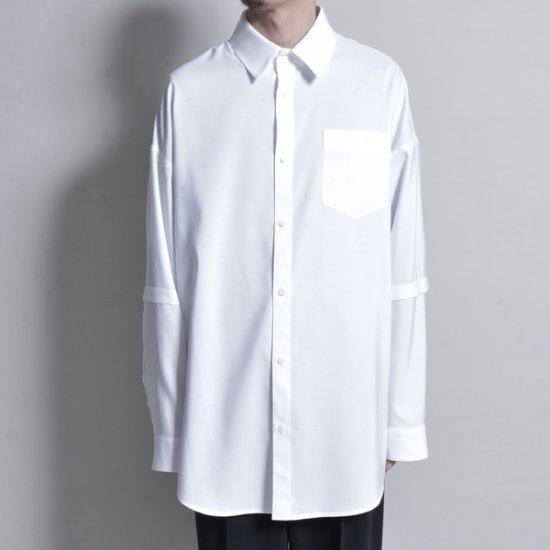メンズファッションJERIH / OVERSIZED CHEST POCKET SHIRT WH