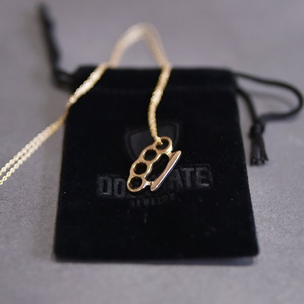 Tiny Gold Knuckle Duster Pendant K10