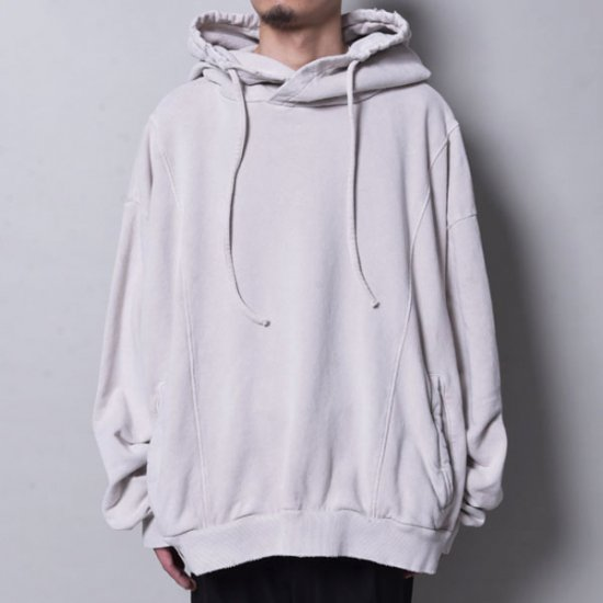 rin / Dust Wide Hoodie GREY WH  DUST