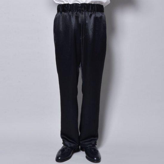メンズファッションrin / Loose Satin Pants BK