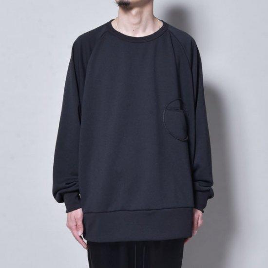 メンズファッションrin / Raglan Rownd Pocket Sweat BK