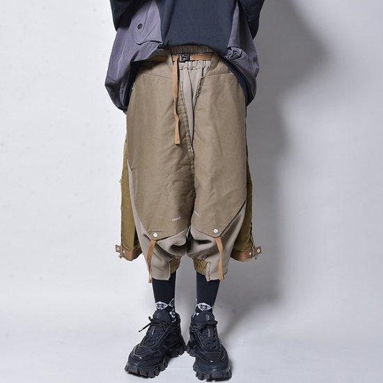 メンズファッションHAMCUS / DUNE RAIDERS MULTI LAYERED DROP CROTCH PANTS GROVE