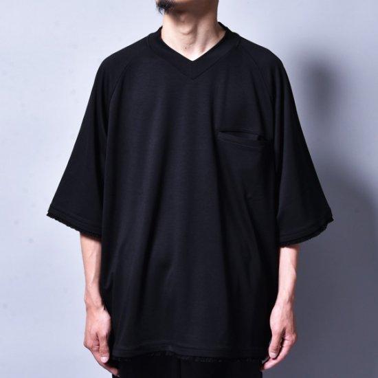 メンズファッションrin / V Raglan T-Shirt BK