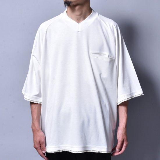 メンズファッションrin / V Raglan T-Shirt WH