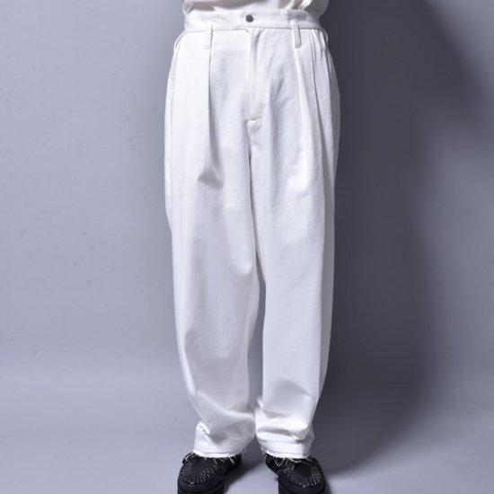 メンズファッションrin / 3 Tuck Over Slacks Pants WH