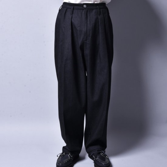 rin / 3 Tuck Over Slacks Pants BK