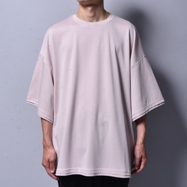 rin / Dolman Silky Big T-Shirt PINK BEI