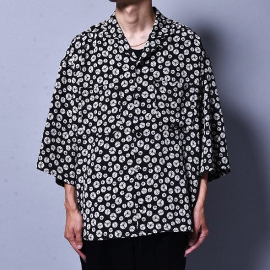 メンズファッションrin / GARA Loose OP S/S Shirt BK