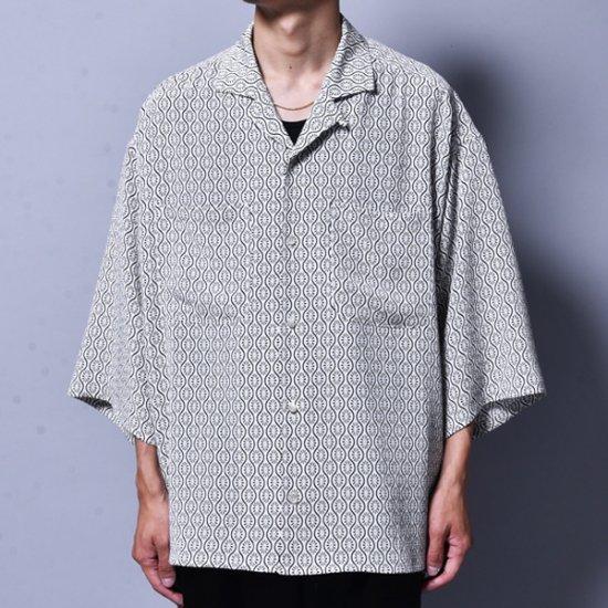 メンズファッションrin / GARA Loose OP S/S Shirt WH