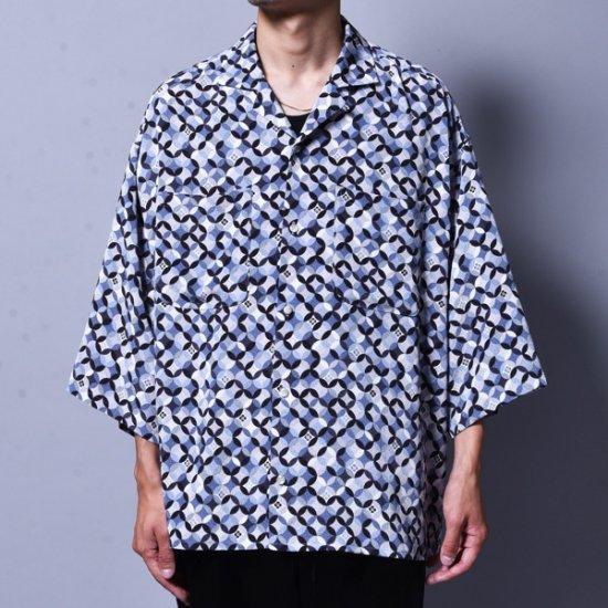 メンズファッションrin / GARA Loose OP S/S Shirt BLUE