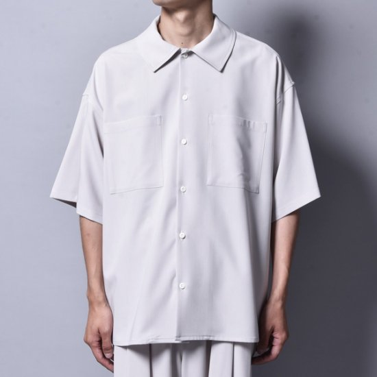 rin / Brick Work s/s Shirt Greige