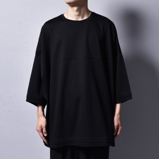 rin / Foot Silky Big T-SHIRT BK