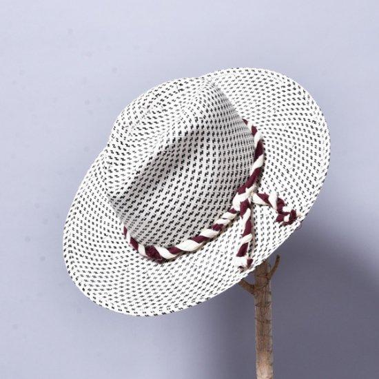 SUPER DUPER HATS / DROP CROWN LARGE 別注 BK WH DOTS