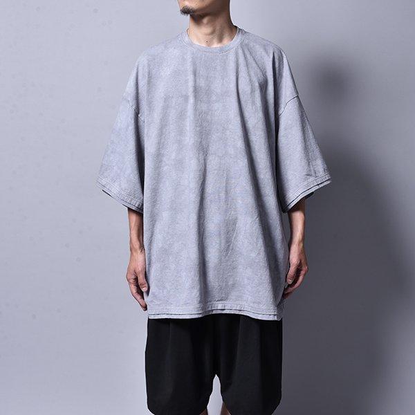 rin / Tie Dye Dust Dolman T Shirt GREY