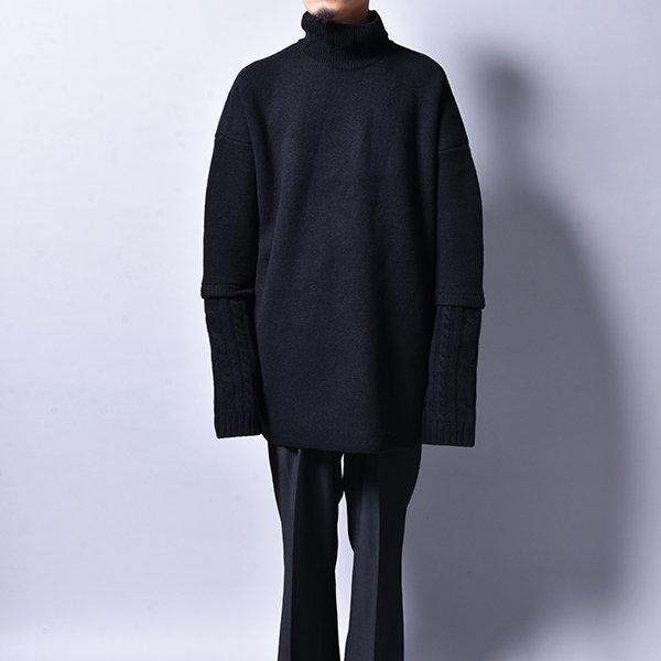 JERIH / Mock Neck Sweater BK