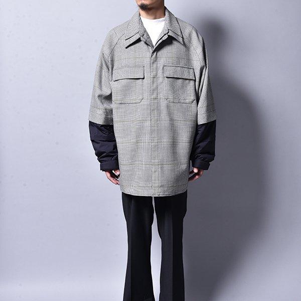 JERIH / Black & White Checkered Shirt  BK WH