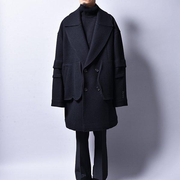 JERIH / Over Wool Peacoat BK