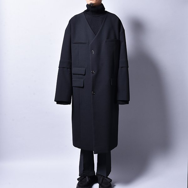 JERIH / Wool Long Coat BK