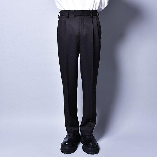 rin / Straight Slacks Pants BK