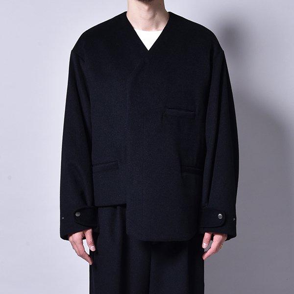 rin / Asymmetry Wool Jacket BK