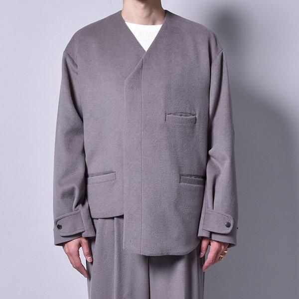 rin / Asymmetry Wool Jacket GREY