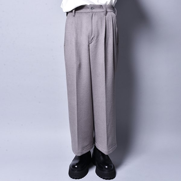 rin / Wide Wool Slacks Pants GREY