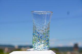琉球グラス美ら海(ロング)&コルクコースターセット