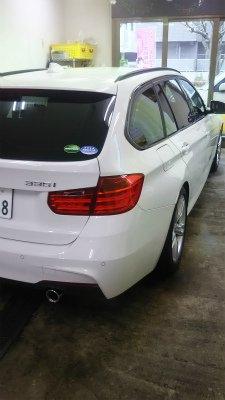 BMW335iツーリング.ガラスコーティグ