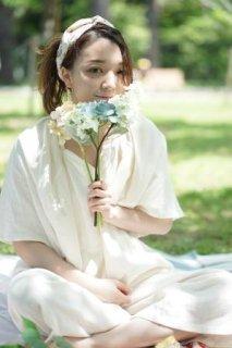 プリンセスライン 5分袖パジャマ(ウエスト腹巻タイプ)