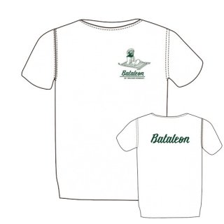 BATALEON  MAGIC CARPET T-shirt WHITE×FOREST GREEN