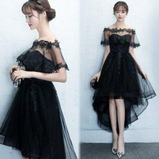 リゾート マキシワンピース コーデ 結婚式 ウェディング 黒 レース フィッシュテール ドレス