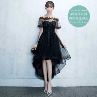 【即納】 リゾート マキシワンピース コーデ 結婚式 ウェディング ゲストドレス フィッシュテール 黒 ブラック かわいい ケープ 甘辛ミックス
