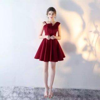 リゾート婚 ワンピース ゲストドレス ブライズメイド フレア ミニ