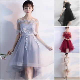 【即納】リゾート婚 ドレス 結婚式 フレア レース ケープ