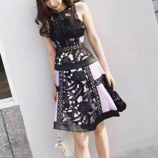 【即納】リゾート婚 ドレス ノースリーブ セクシー レース