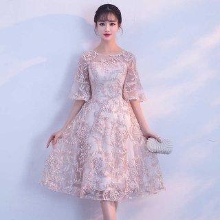 【即納】リゾート ドレス お呼ばれ ブライズメイド 刺繍 結婚式