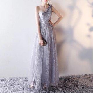 ワンショルダーデザインが新鮮◇エレガントなロングドレス