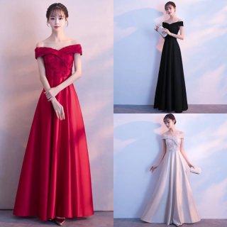 リゾートウェディングのドレスに♪エレガントなロングドレス 3色
