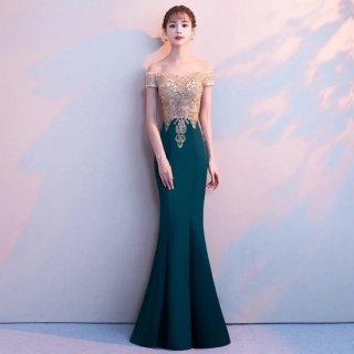 エレガントで美しい曲線美を演出◇マーメイドシルエット ロングドレス