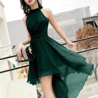 美シルエットのフィッシュテールデザイン♪ノースリーブドレス ワンピース 大きいサイズあり