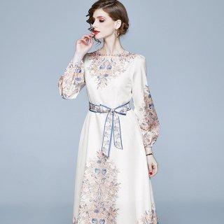 上品なボヘミアンテイスト◇リゾート マキシワンピース ドレス 大きいサイズ