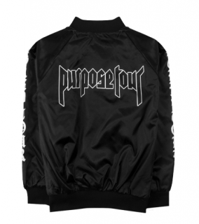 Purpose Tour Satin Jacket《Black》