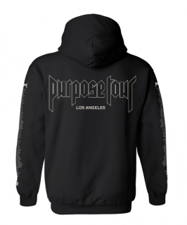 Purpose Tour LosAngeles Hoodie《Black》